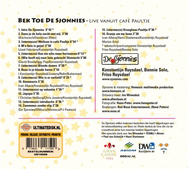Bek Toe De Sjonnies Tracklist